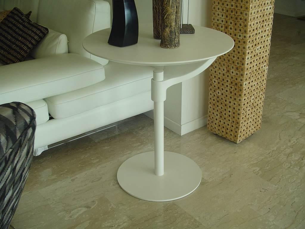 outlet- grandi affari- mobili salvati- castel san giorgio - sa -12-declic tavolino tondo poliuretano bianco € 160