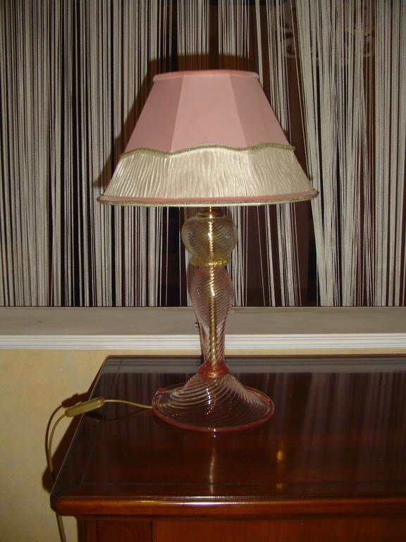 outlet- grandi affari- mobili salvati- castel san giorgio - sa -2 Lampade da tavolo in vetro di murano cad.€ 70