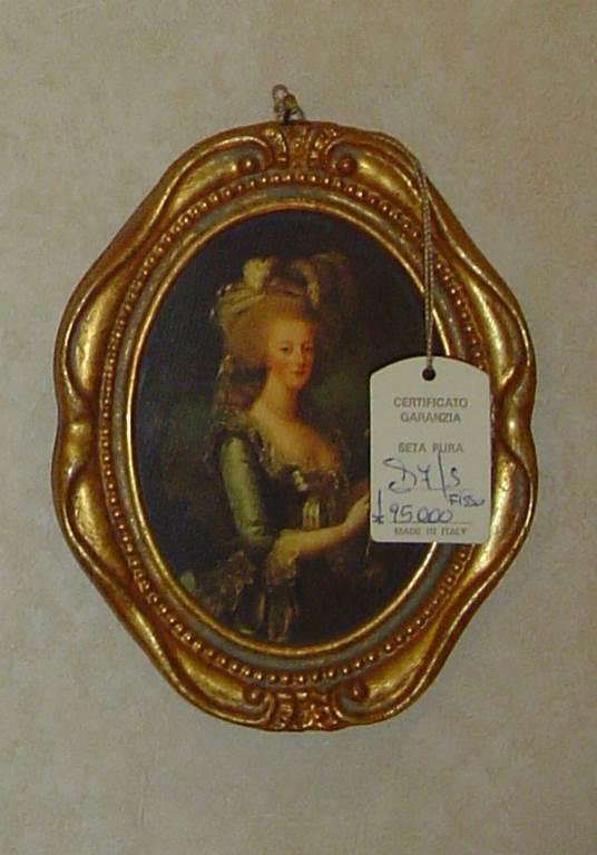 quadro cornice ovale dorata-outlet- grandi affari- mobili salvati- castel san giorgio - sa -120quadro con cornice classica € 50