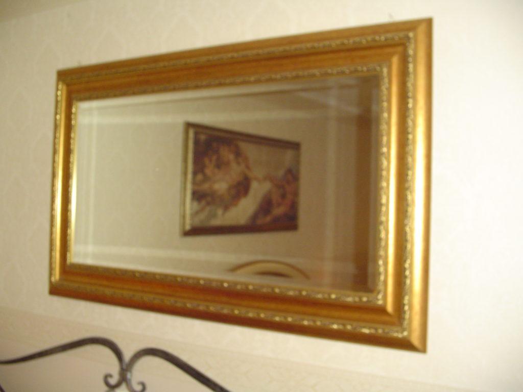 ditta scrilema - specchio saoutlet- grandi affari- mobili salvati- castel san giorgio - sa -31-specchio cornice classica finitura oro € 90