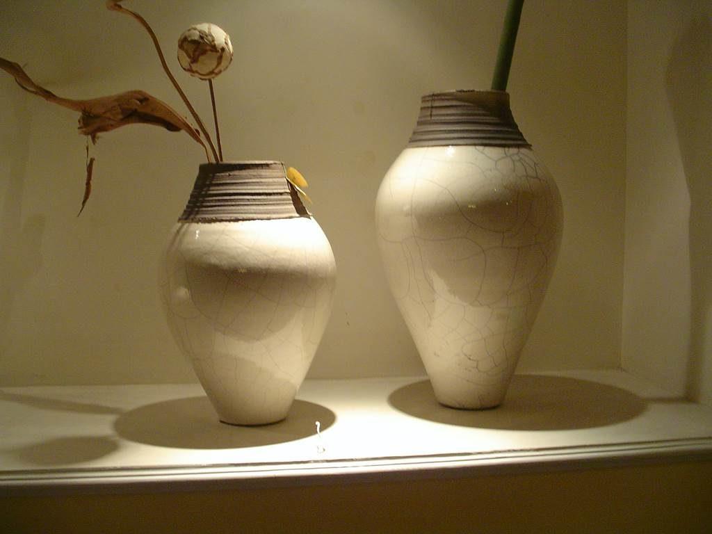 Oakom coppia vasi ceramica craclè -outlet- grandi affari- mobili salvati- castel san giorgio - sa -43- oakom - vaso piccolo € 75 vaso grande € 95