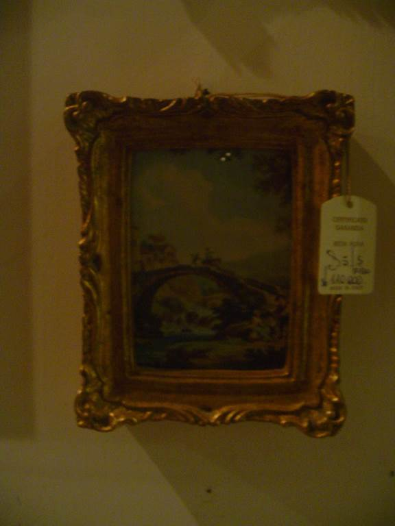 quadretto con cornice dorata-outlet- grandi affari- mobili salvati- castel san giorgio - sa -94quadro con cornice classica € 25