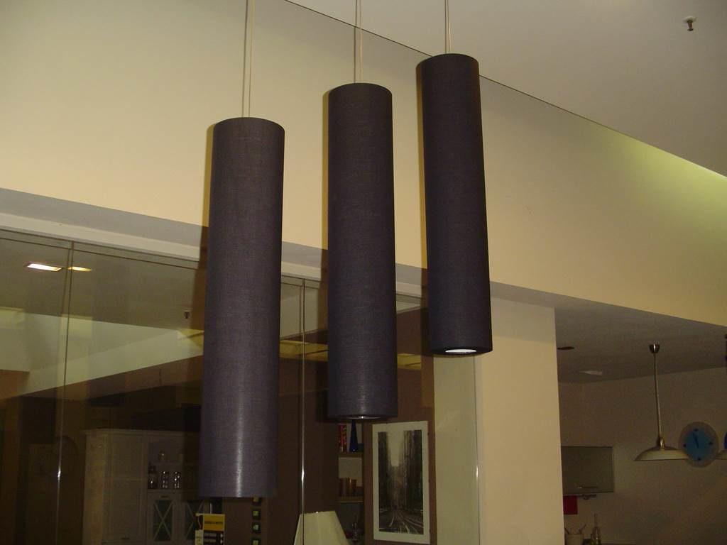 Ditta Adriani&Rossi - Lampada sospensione cilindro tessuto nero