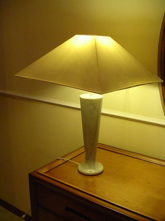 Base lampada da tavolo in marmo