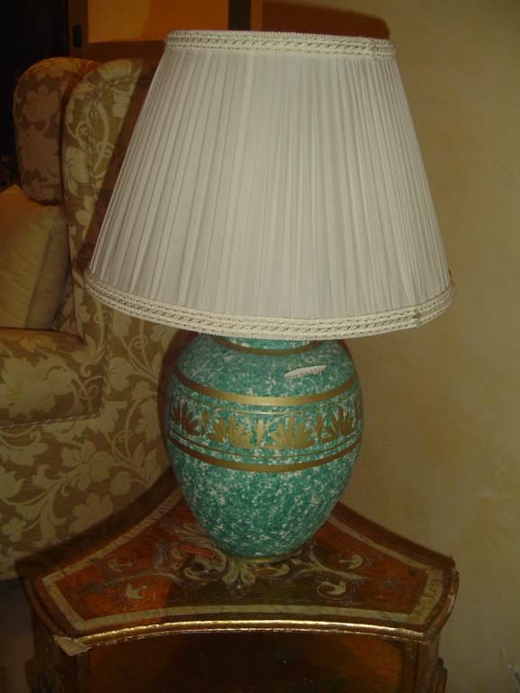 interni luce lampada da tavolo in ceramica decorata- in outlet da mobili salvati a castel san giorgio - salerno
