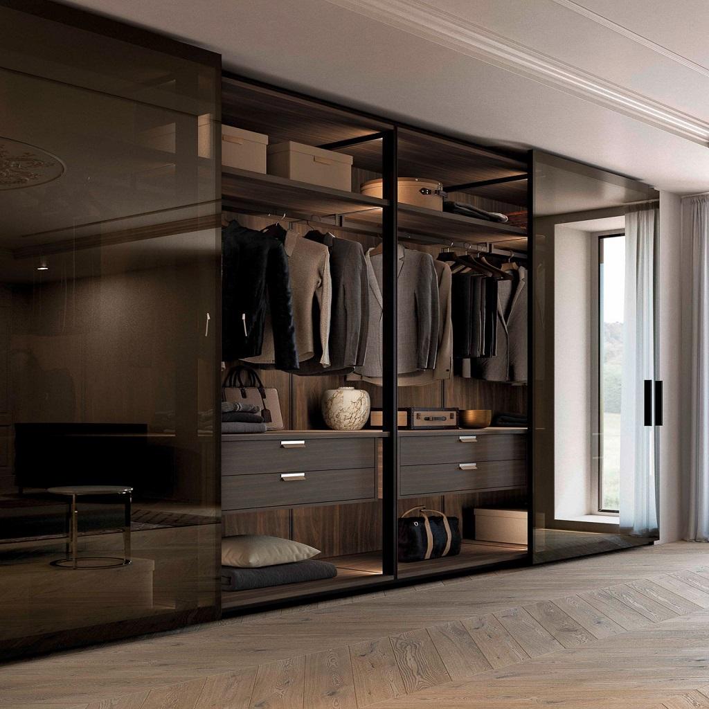 particolare interno armadio glass olivieri mobili salvati